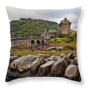 Eilean Donan Castle 1 Throw Pillow
