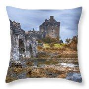 Eilean Donan Castle 3 Throw Pillow