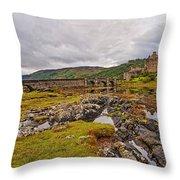 Eilean Donan Castle Dornie Throw Pillow