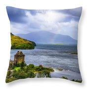 Eilean Donan Loch Duich Throw Pillow
