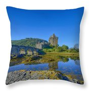 Eilean Donan Reflections Throw Pillow