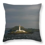 Eilean Musdile Lighthouse Throw Pillow