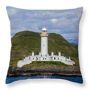 Eilean Musdile Lighthouse Throw Pillow
