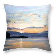 Eileen's Sunset Throw Pillow