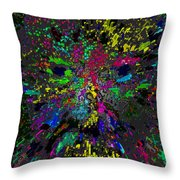 Einsteins Exploding Head Throw Pillow