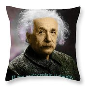 Einstein Explanation Throw Pillow