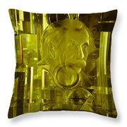 Einstein In Crystal - Yellow Throw Pillow
