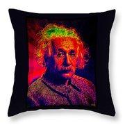 Einstein - Pop Art Throw Pillow