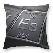 Einsteinium Chemical Element Throw Pillow