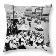 Eisenhower Victory Parade Throw Pillow