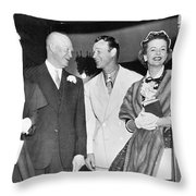 Eisenhowers At Easter Throw Pillow