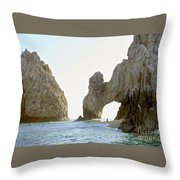 El Arco De Cabo San Lucas Throw Pillow