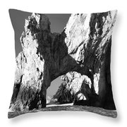 El Arco In Black And White Throw Pillow