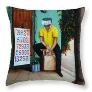 El Billetero Del 33  Throw Pillow