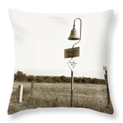El Camino Real Mission Bell Near San Fernando Mission California 1906 Throw Pillow