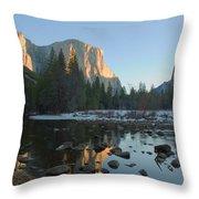 El Capitan Morning Sun Throw Pillow