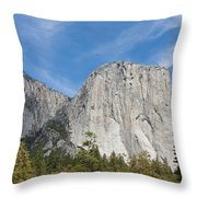 El Capitan And The Wall Of Granite Throw Pillow
