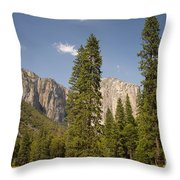 El Capitan And Yosemite Valley Throw Pillow