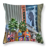 El Capitan Marquee Neon Lights Lincoln Billboard Hollywood Ca Throw Pillow