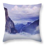 El Capitan Rises Above The Clouds Throw Pillow