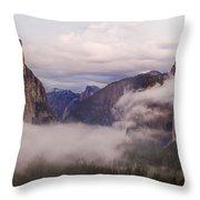 El Capitan Rises Over The Clouds Throw Pillow