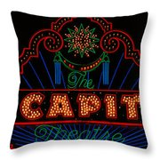 El Capitan Theatre Sign In Hollywood Throw Pillow