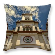 Lady Of Rosary Throw Pillow