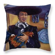 El Gallero Throw Pillow