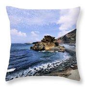 El Golfo Beach On Lanzarote Throw Pillow