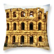 El Jem Colosseum Throw Pillow