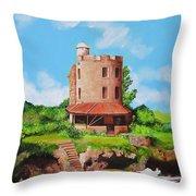 El Morrillo Fort In Matanzas Cuba Throw Pillow