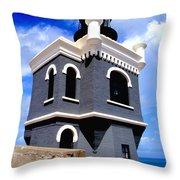 El Morro Lighthouse Throw Pillow