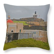 Scenic El Morro Throw Pillow