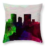 El Paseo City Skyline Throw Pillow