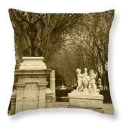El Prado Boulevard Madrid Spain Throw Pillow