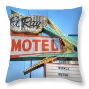 El Ray Motel Throw Pillow
