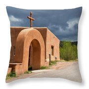 El Santuario De Chimayo Cross Throw Pillow