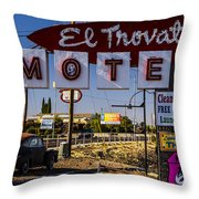 El Trovatore Motel Throw Pillow