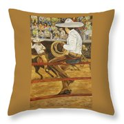 El Vaquero Que Ata Throw Pillow