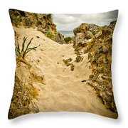 Elafonisi Track Throw Pillow