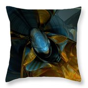Elated Abstract Throw Pillow
