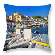 Elba Island - Marina Di Campo Throw Pillow