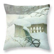 Elbpark In Hamburg Throw Pillow by Fritz Thaulow