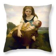 Elder Sister Throw Pillow