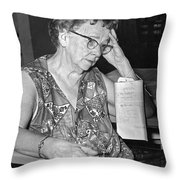 Elderly Woman At Hospital Throw Pillow