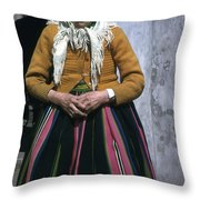 Elderly Woman Throw Pillow