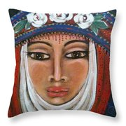 Eleanor Of Aquitaine The Lioness In Winter Throw Pillow