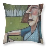 Eleanor Rigby Avec Chardonnay Throw Pillow