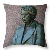 Eleanor Roosevelt Memorial Detail Throw Pillow