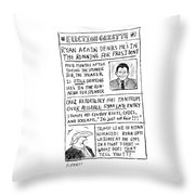 Election Gazette Throw Pillow